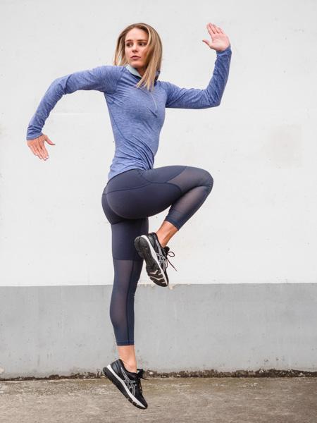 Ruby Melbourne female fitness model running