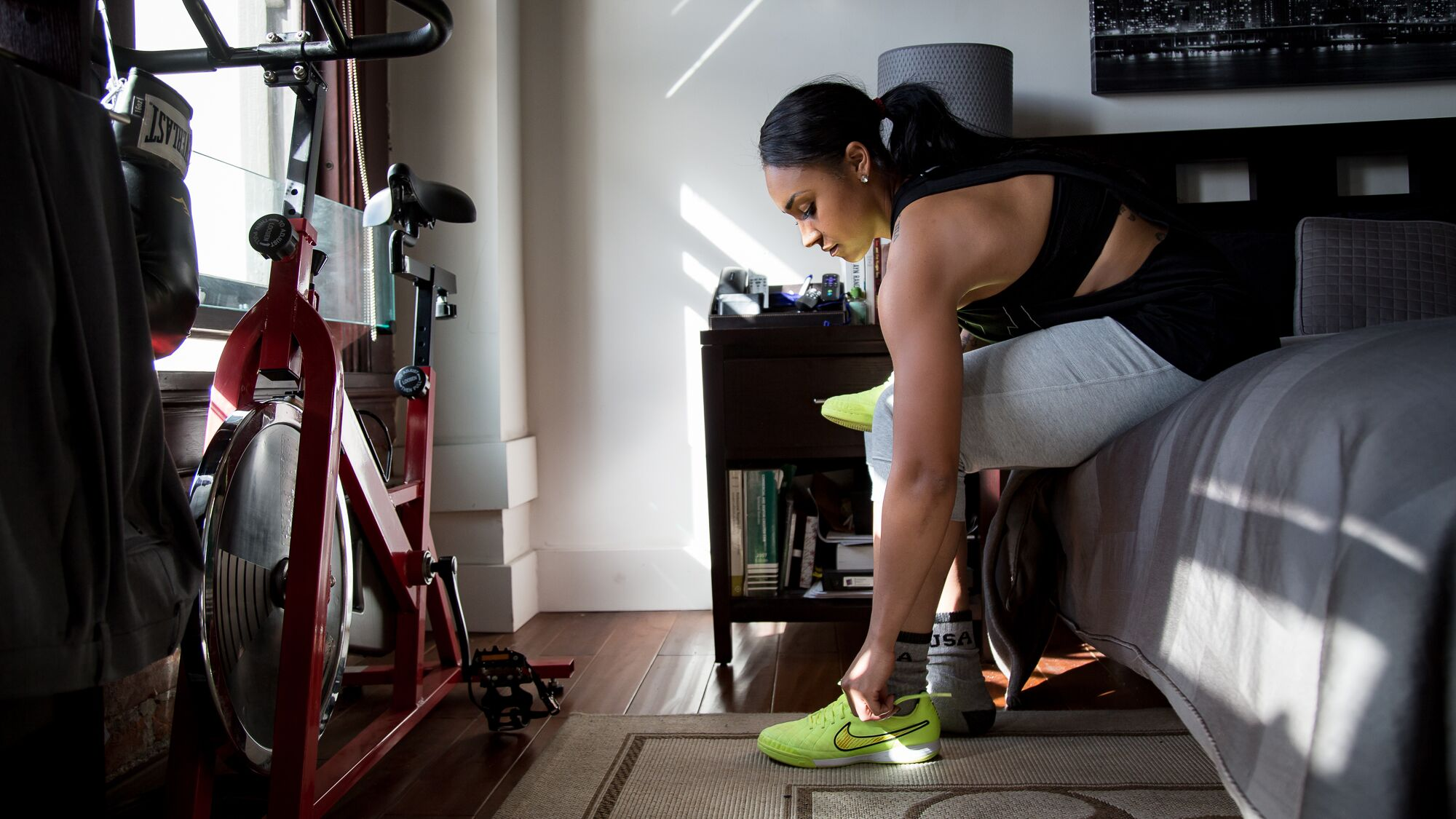 Samantha a professional soccer player Nike Campaign