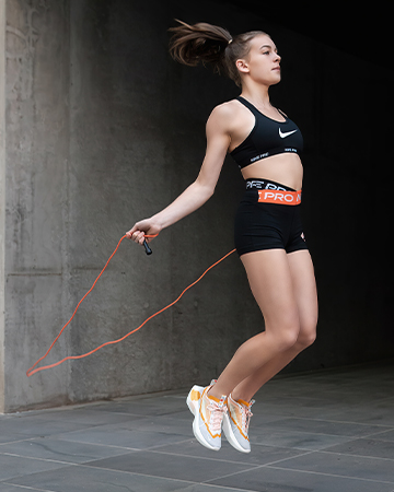 Georgia melbournes young teen fitness model skipping