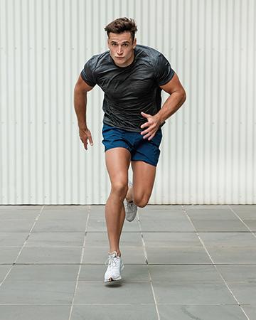 Mitchell Melbourne ex pro footballer sprinting