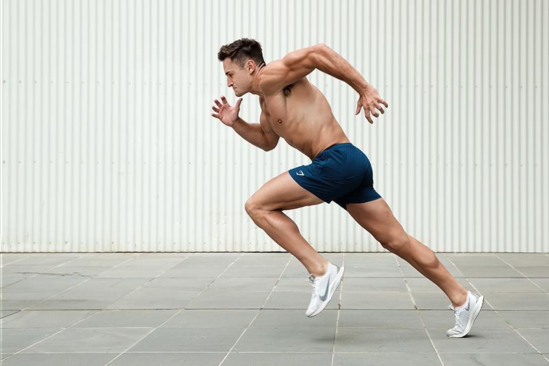 Mitchell ex Melbourne AFL star running at top speed