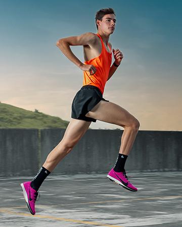 Flynn Sydney male model and elite 1500 meter runner urban running