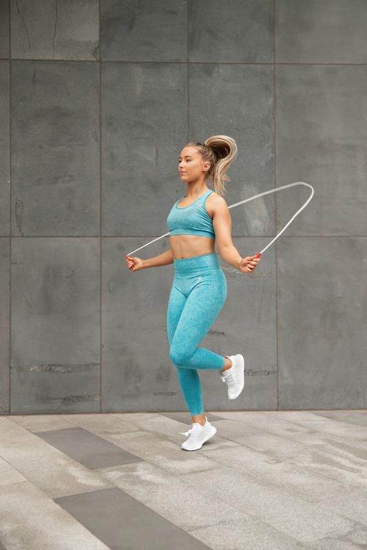 Georgie melbourne teen fitness model skipping